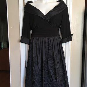 Eliza J Women's Black Off Shoulder A-line Dress